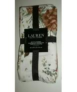 LAUREN Ralph Lauren 100% Cotton Set of 4 Napkins White w/ Winter Floral ... - $26.72