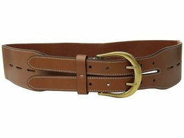 Lauren Ralph Lauren Cornwall Smooth PU/Stretch Belt (Tan,S) - $44.90
