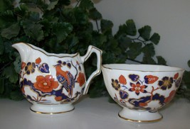 MINT~Cream & Sugar Set~AYNSLEY~Bird Of Paradise~England~VINTAGE~Very Col... - $39.99
