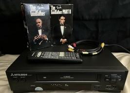 Mitsubishi HS-U140 4 Head Hi-Fi Stereo VHS VCR Player W/ Remote & Godfather - $65.06