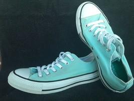 Converse Chuck Taylor All Star~Light Blue/Green~ Low Top~ Dbl Tongue~ Sz 7 Women - $14.84