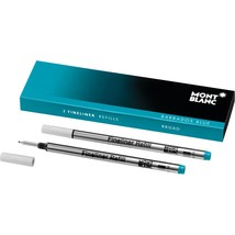 Montblanc Fineliner Barbados Blue Refill Broad Point - Pack of 2 111444 - $17.99