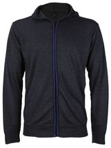 E-38 Italy Men's Slim Fit Luxury Wool Zip Up Pullover Hoodie Cardigan Sweater image 14