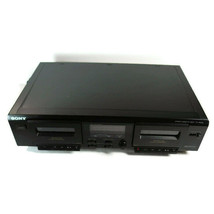 SONY TC-WE305 Stereo Dual Cassette Deck High Speed Dubbing Tested - $52.46