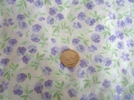 Twin Fitted Sheet Violets Springs Company cotton/poly blend - $14.99