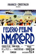 Amarcord Federico Fellini Classic Art 1973 24x18 Poster - $23.99