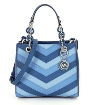 NWT Michael Kors Sky Blue Cynthia Chevron Strip... - $178.00