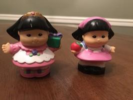 2 Little People Sonya with Present & Sonya with Apple Figures - $5.95