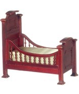 Dollhouse Renaissance Youth Bed Wood Mahog Miniature - $23.50