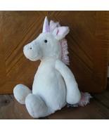 """JELLYCAT Bashful Unicorn Plush Stuffed Beanie White Pink 12"""" Iridescent ... - $19.00"""