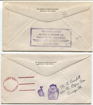 UNION PACIFIC First Day Cancellation Railroad Train Trip Covers Postage 1935 USA image 2