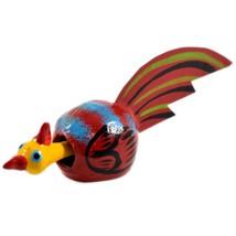 Handmade Oaxaca Copal Wood Carving Folk Art Chicken Rooster Bobble Head Figurine image 2