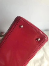 AUTH Christian Dior Lady Dior Large Red Patent Leather Cannage Shoulder Tote Bag image 6