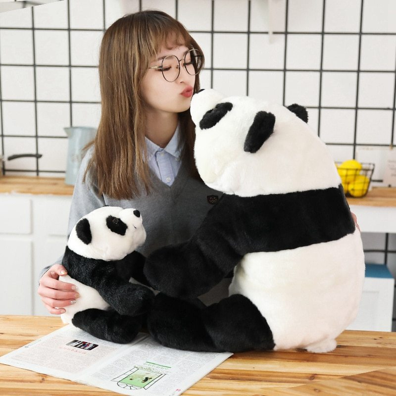 Cute Baby Large Size Panda Bear Plush Stuffed Animal Doll Animals Toy Pillow Car image 2