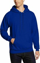 Hanes Mens EcoSmart Pullover Fleece Hoodie Muff Pocket P170 Royal Blue L... - $26.17