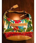 TIGNANELLO Tignanello Colorful Floral Print Hobo Shoulder Purse EUC - $30.32