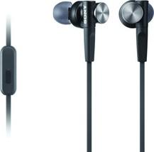 Sony MDRXB50AP Extra Bass Earbud Headset (Black) (Black|Standard Packaging) - $47.48