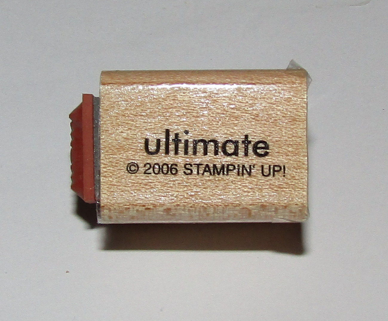 "Primary image for Ultimate Wow Rubber Stamp Mini Words Stampin Up Two-In-One WM 1"" Long"