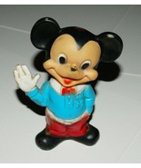 Walt Disney Waving Mickey Mouse Rubber Figure 1940's Combex Made in England - $15.47