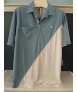 "NWT Quagmire Golf Men's Blue White ""Early Bird"" Versatile Sport Golf Shi... - $42.00"