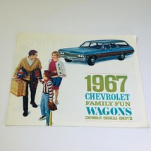 Vintage 1967 Chevrolet Family-Fun Wagons Chevelle Chevy II 4-Door 155HP ... - $10.65