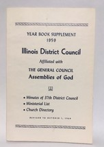 1959 Assemblies Of God Yearbook Supplement, Illinois District - $5.00