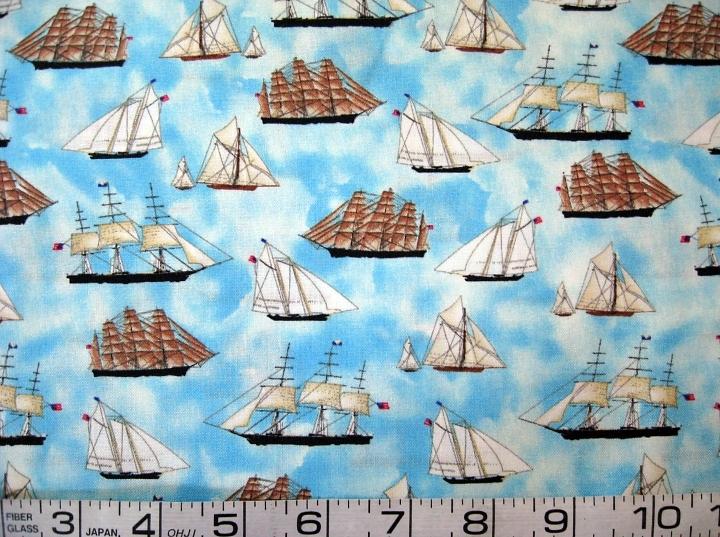 Sailboats tiny ships