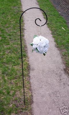 42u0026quot; Large Scroll Shepherd Hook Small Garden Hanger Outdoor Wedding Supplies - Garden Stakes