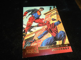 1995 DC Versus Marvel Fleer SkyBox Card #73 Spiderman Vs. Superboy - $1.49
