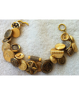 Handcrafted Brass Button Bracelet - $15.00
