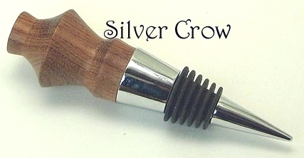 Primary image for Wood Turned Wine Bottle Stopper  Metal Stopper Handcrafted Clearance