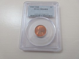 1909 VDB Lincoln Cent  PCGS MS64RB - $125.00