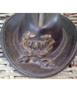Vintage Cast Iron Grand Army of the Republic Hat. Miniature Cast Iron Hat. - $150.00