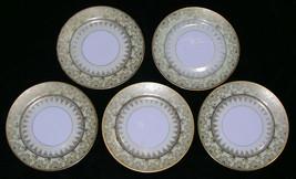 Set 5 Luncheon Plates Ovington New York Vintage 1920-40 Gilt Gold Yellow... - $39.99
