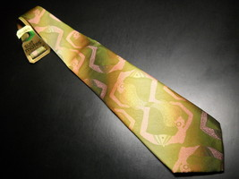 Wembley Suitmates Neck Tie Greens Browns Semi Nudes Polyester Unworn Col... - $12.99