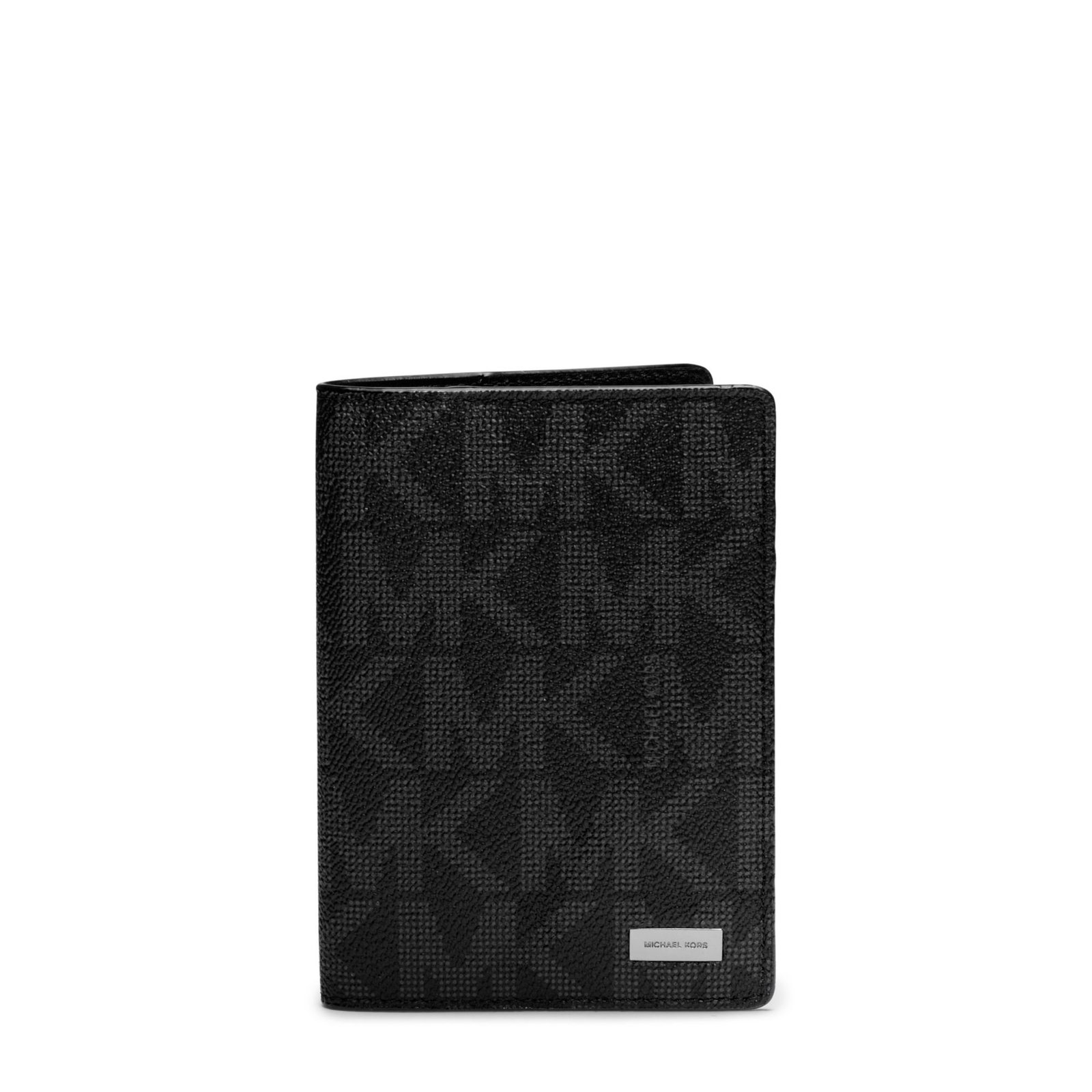 Primary image for Michael Kors 36T6SMNV1B Jet Set Black PVC MK Signature Passport Card Holder