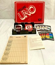 Mattel Deluxe UNO Edition Card Game Vintage 1978 Family Party  COMPLETE - $19.79