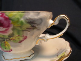 Tea Cup & Saucer - Occupied Japan - Rose bouquet - $32.00