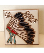 Mag Mor , Santa Fe, Native American Motiff Art Tile   - $5.00