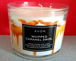 Lot Of 6 Avon 3 Wick Candle - Whipped Caramel Swirl Lot Of 6 - All New - $41.58
