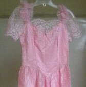 Cotton Candy Pink Lace 'Fairy' Whimsical Wedding Dress S