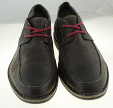 Size 11 Casual Lace Dark Haan Toe Shoes Up Mens Oxford Brown Plain Leather Cole w7TP08IIq