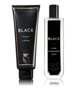 2 Pc Bath & Body Works Black Fine Fragrance Mist & Cosmic Body Cream  - $22.50