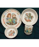 Vintage Raggedy Ann Andy Oneida Melamine Plate Bowl Cup Set 4 pieces - $15.99