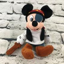 Disneyland Walt Disney World Pirates Of the Caribbean Mickey Mouse Plush... - $14.84
