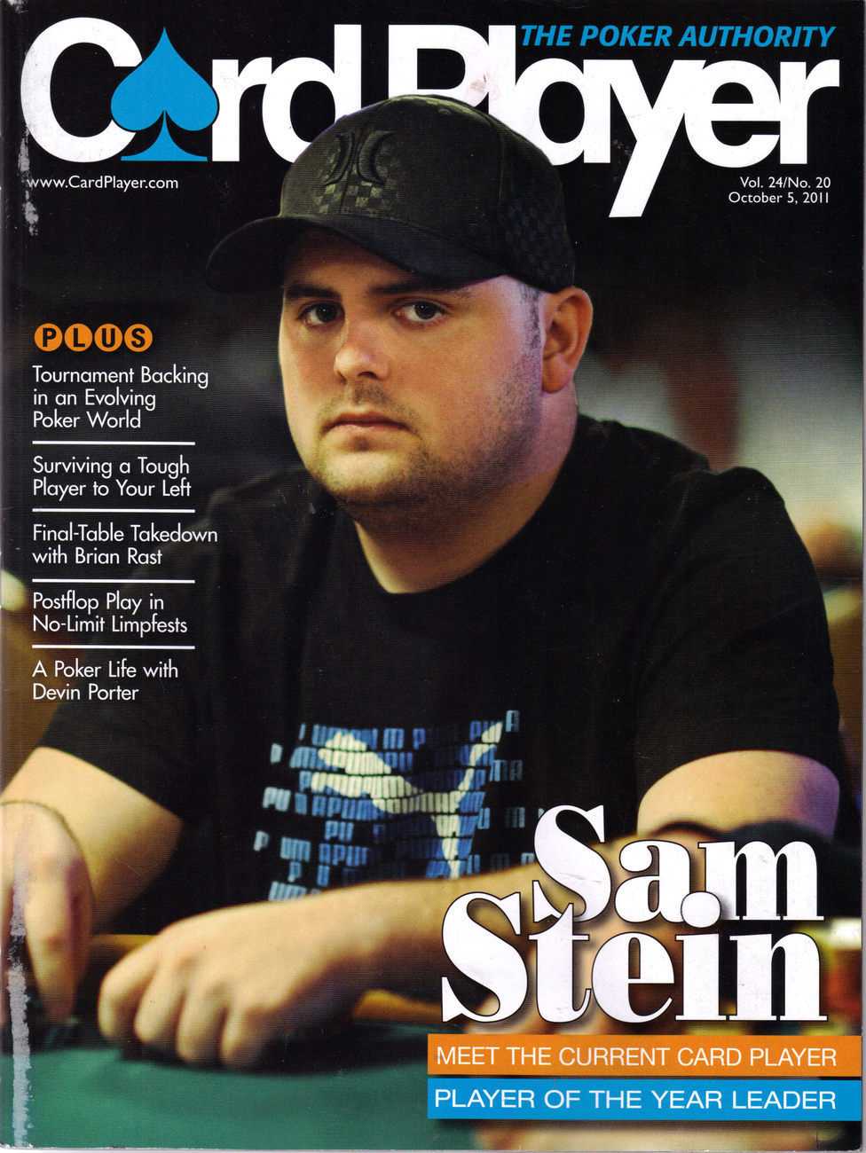 Player of the Year, SAM STEIN @ CARD PLAYER Oct 5 2011