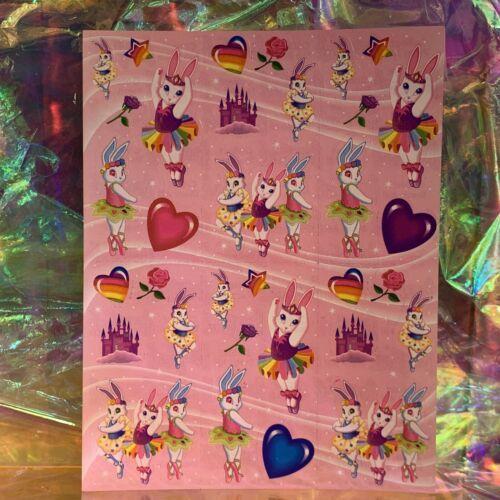 Lisa Frank Complete Sticker Sheet Ballerina Bunnies S242  Perfect