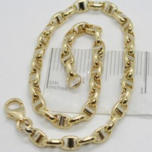 Bracelet in Gold Yellow and White 18k 750 Knitted Stud Made in Italy - $321.86