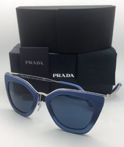 Nuovo Prada Occhiali da Sole Spr 53S UFW-1V1 52-21 Sfumate Blu & Argento... - $356.02