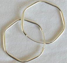Hexagon silver earrings - $10.00